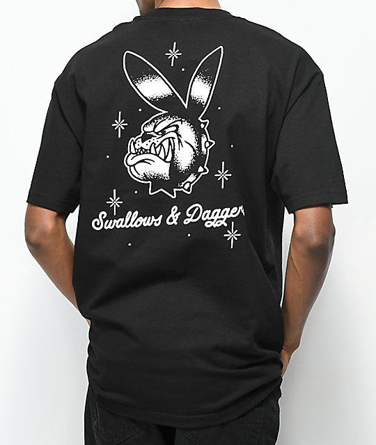 Swallows & Daggers Bulldog Bunny Black T-Shirt