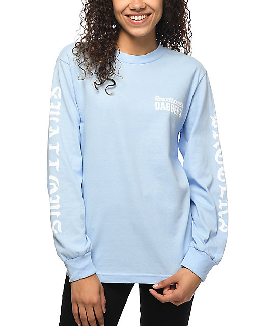 Swallows   Daggers Fuck Pablo Light Blue Long sleeve T-Shirt  03f657a443e