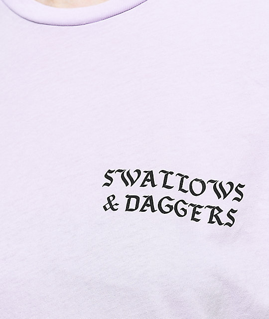 Swallows & Daggers Hand Picked Roses Lavender T-Shirt