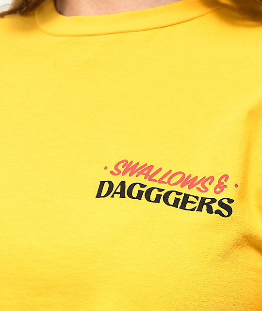 Swallows & Daggers Less Hate Gold Crop T-Shirt
