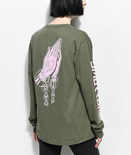 Swallows & Daggers Locked Up Olive Long Sleeve T-Shirt