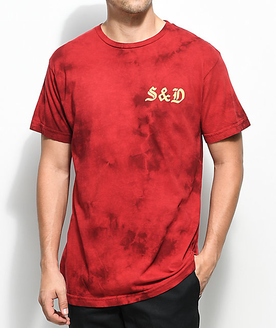 Swallows & Daggers Panther Red Tie Dye T-Shirt