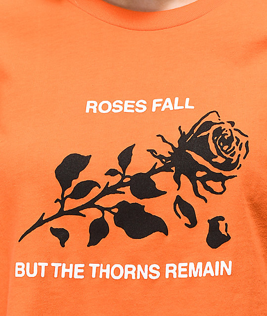 Swallows & Daggers Roses Fall Orange Crop T-Shirt