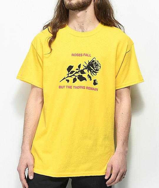 ac9279a1928b8 Swallows & Daggers Roses Fall Yellow T-Shirt