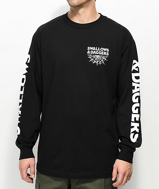 Swallows & Daggers Spider Black Long Sleeve T-Shirt