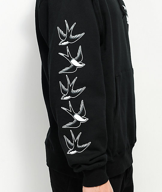 Swallows & Daggers Swallows Black Hoodie