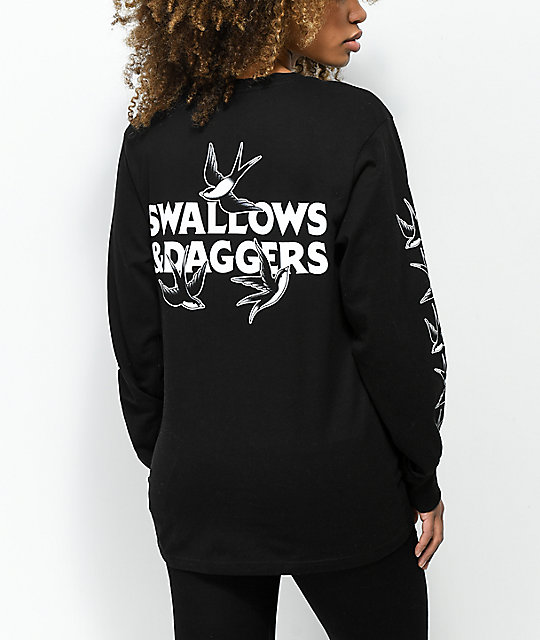 Swallows & Daggers Swallows Black Long Sleeve T-Shirt