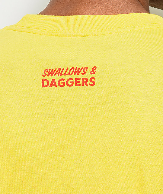 Swallows & Daggers Thanks For Nothing Yellow Long Sleeve T-Shirt