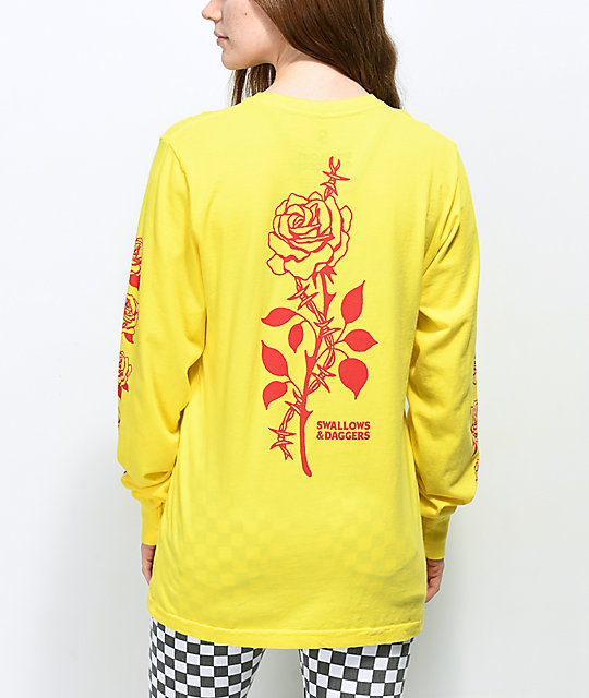 Swallows & Daggers Thorn Rose Yellow Long Sleeve T-Shirt