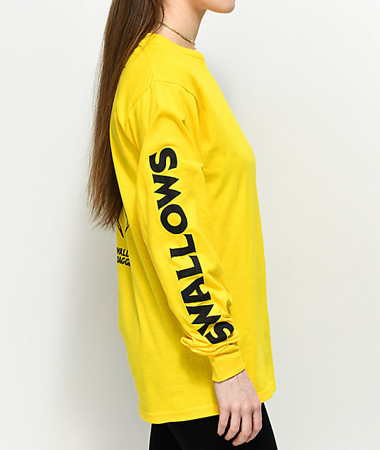 Swallows & Daggers  Spider Web Yellow Long Sleeve T-Shirt