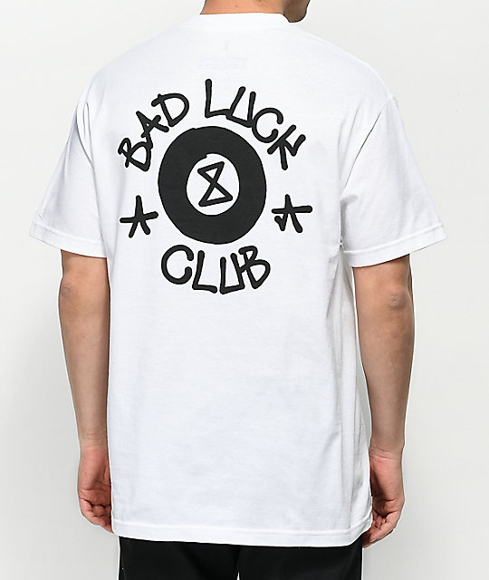 Swallows & Daggers Bad Luck Club White T-Shirt