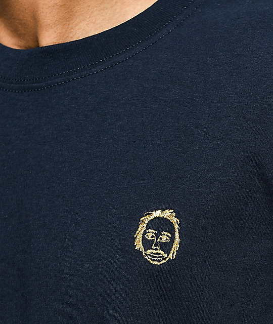 acd122cb Sweatshirt by Early Sweatshirt Premium Navy & Gold T-Shirt | Zumiez.ca