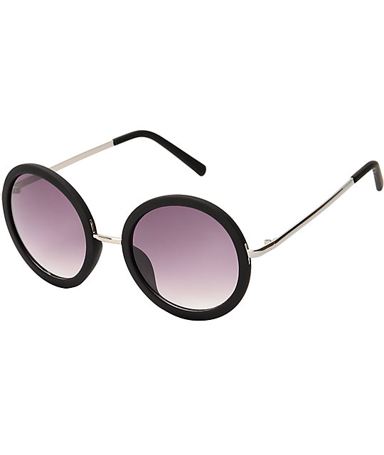 Sweet Jane Round Black Sunglasses