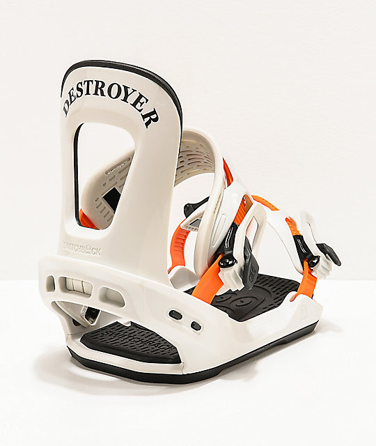 Switchback Destroyer White Snowboard Bindings 2020