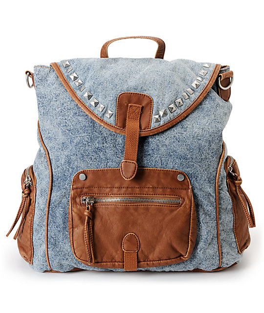 T-Shirt & Jeans Acid Wash Denim Rucksack Backpack