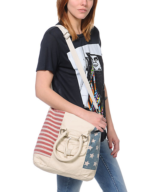 T-Shirt & Jeans American Flag Tote Bag