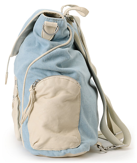 T-Shirt & Jeans Chambray & White Rucksack Backpack