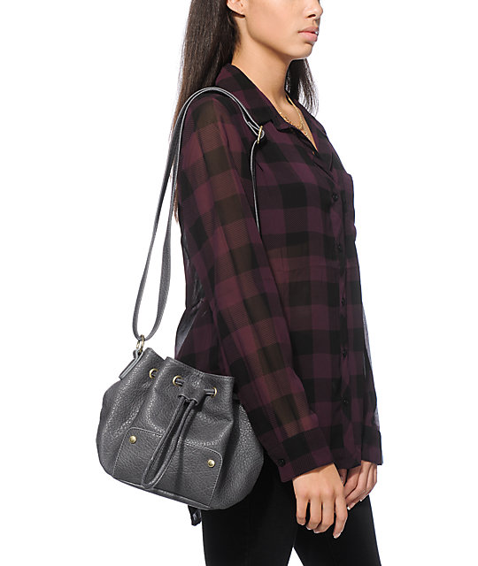 T-Shirt & Jeans Charcoal Bucket Bag
