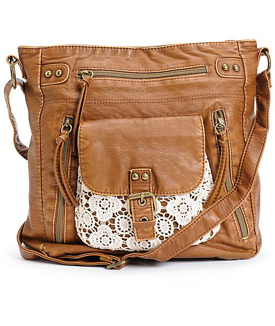T Shirt Jeans Harper Crochet Pocket Tote Bag
