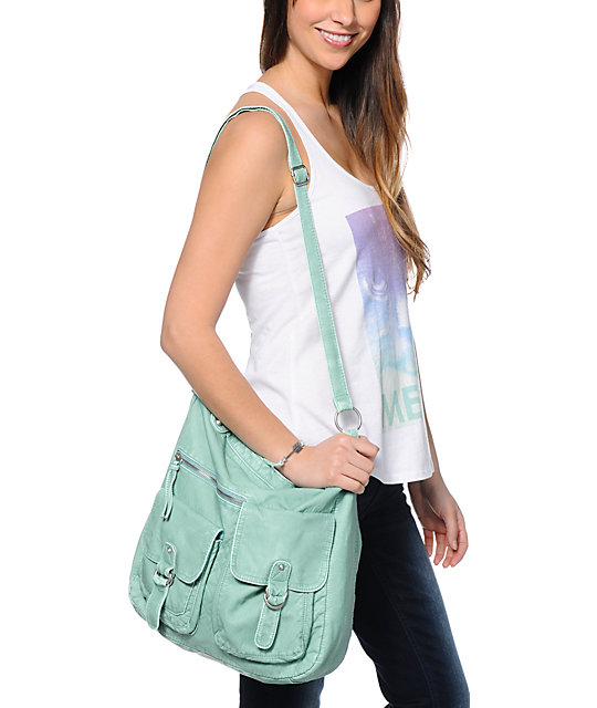 T-Shirt & Jeans Teal Faux Leather Tote Bag