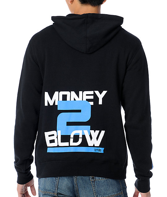 TMLS Blow Money 2 Black & Blue Pullover Hoodie