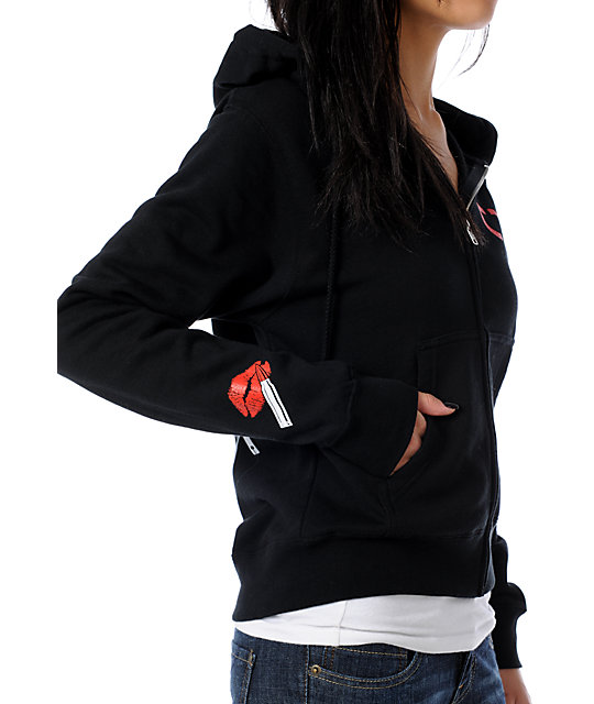 TMLS Wifey 2 Black Full Zip Up Hoodie