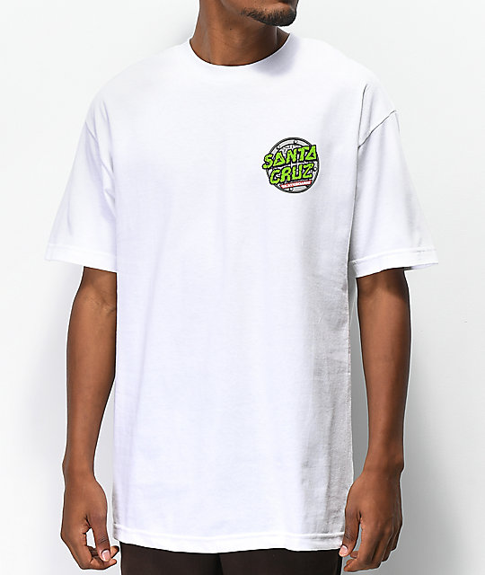 TMNT x Santa Cruz Sewer Dot camiseta blanca