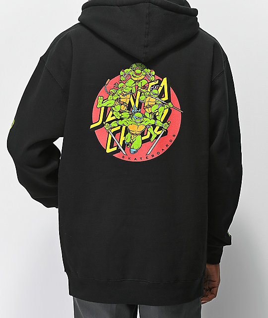 d5c0af04 TMNT x Santa Cruz Turtle Power Black Hoodie | Zumiez
