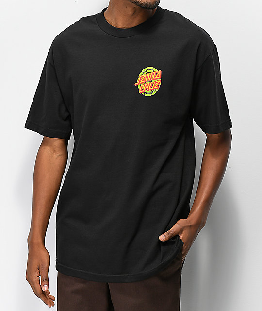 9b63ab80 TMNT x Santa Cruz Turtle Power Black T-Shirt | Zumiez