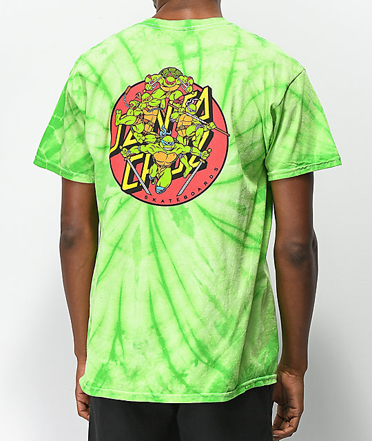 dd025e8b TMNT x Santa Cruz Turtle Power Green T-Shirt | Zumiez
