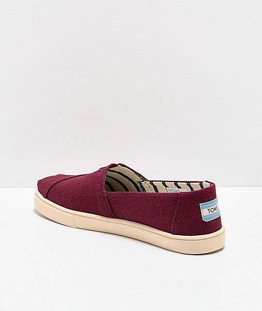 TOMS Alpargata Maroon Shoes