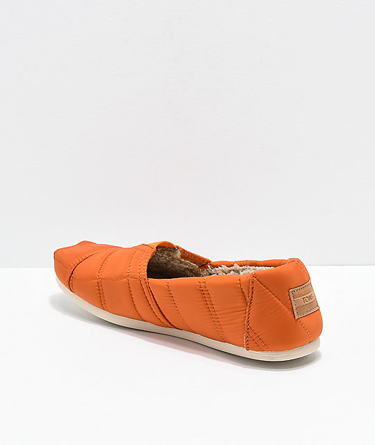 TOMS Alpargata Orange Slip On Mens Shoes