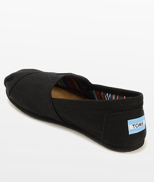 ... TOMS Classics All Black Womens Shoes ... ecd55c4fb647