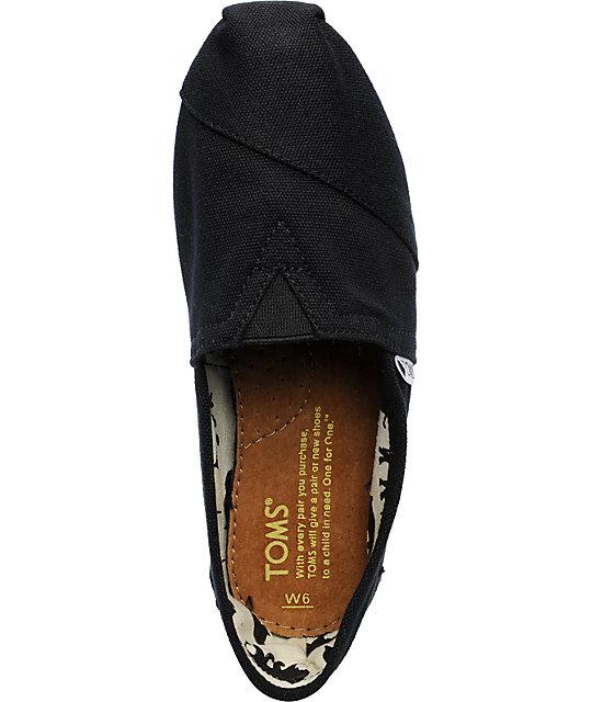 310f93f036c ... TOMS Classics Canvas Black Slip-On Womens Shoes ...