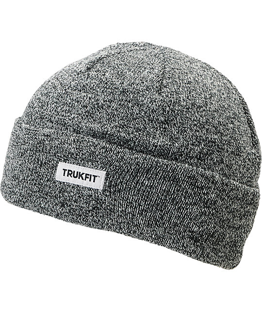 TRUKFIT Marl Heather Black Beanie