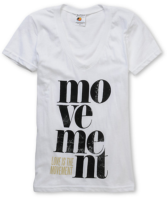 TWLOHA Lubalin White V-Neck T-Shirt