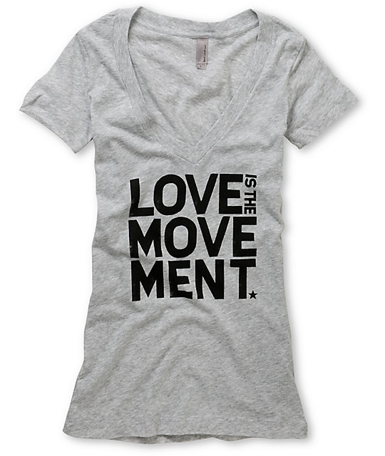 TWLOHA Movement Heather Grey V-Neck T-Shirt