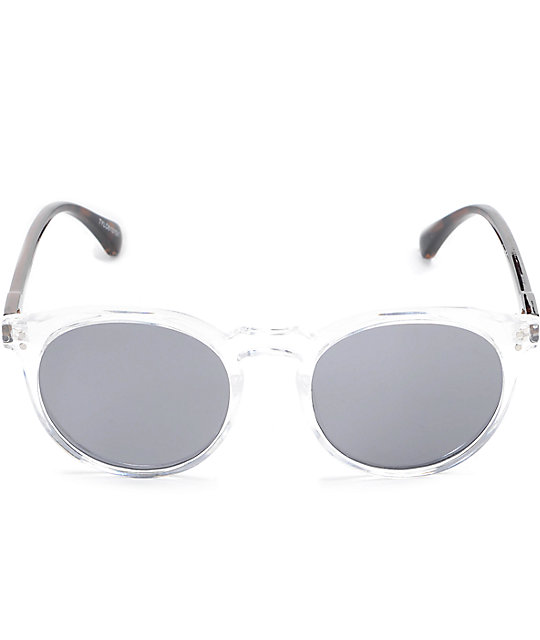 Taylor Clear Tortoise Rounded Wayfarer Sunglasses