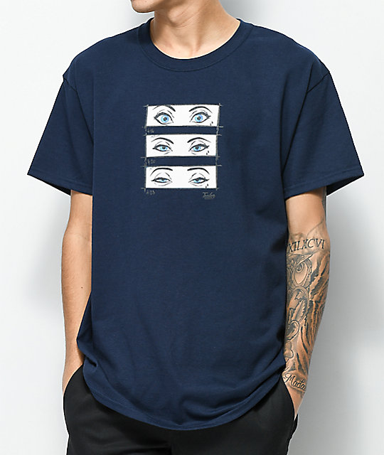 Tealer Pop-Art Eyes Navy T-Shirt