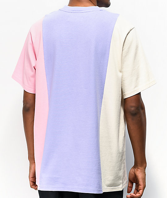 Teddy Fresh 3 Panel Lilac, Cream & Pink Knit T-Shirt