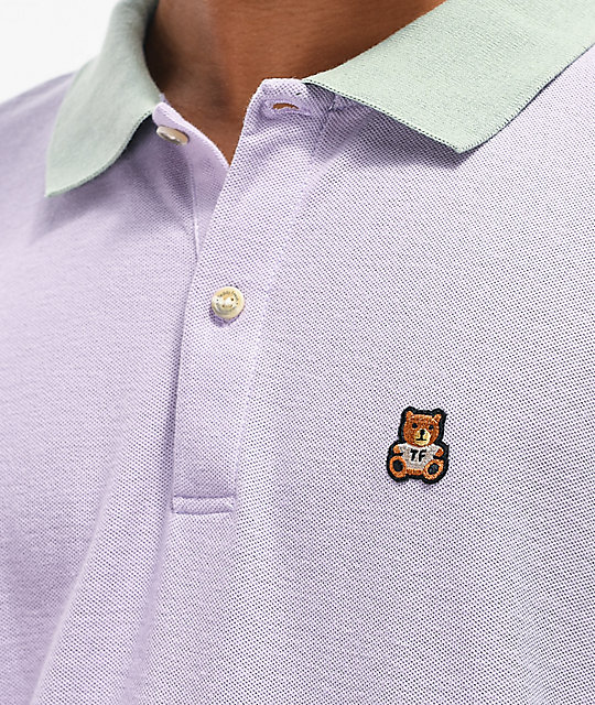 Teddy Fresh Colorblock Pastel Long Sleeve Polo Shirt