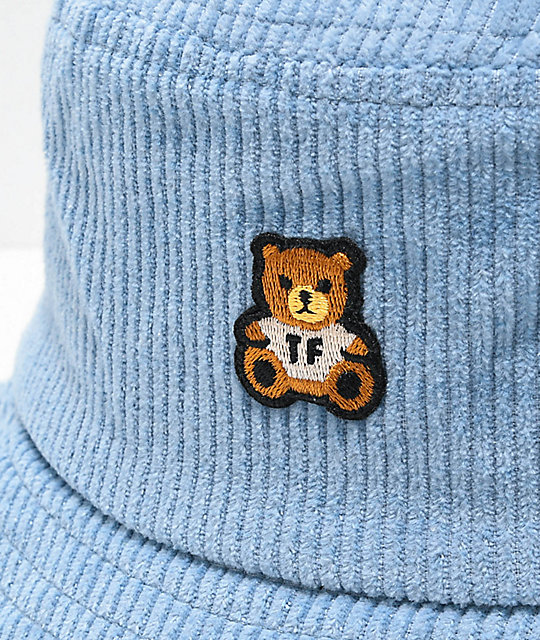 Teddy Fresh Corduroy Blue Bucket Hat