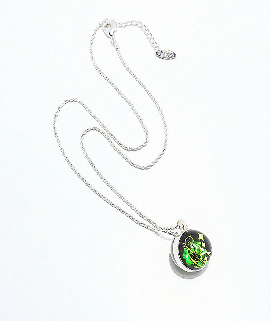 Teddy Fresh Green Globe Glow In The Dark Necklace