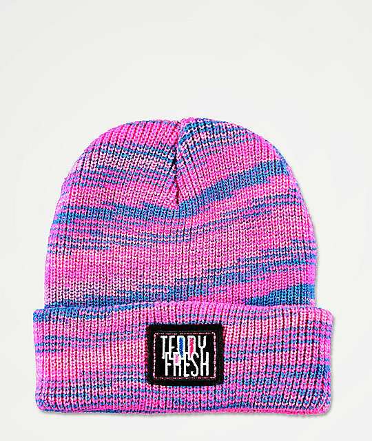 Teddy Fresh Spacedye gorro rosa y azul