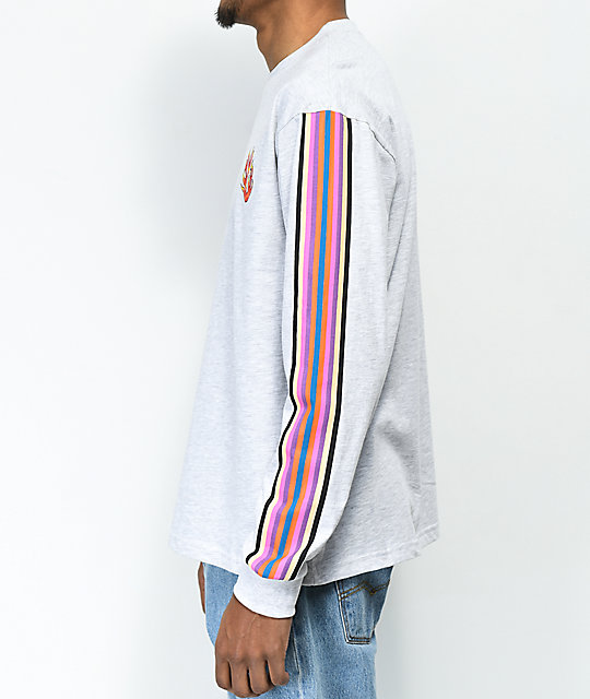 Teddy Fresh Stripe & Flame Long Sleeve T-Shirt