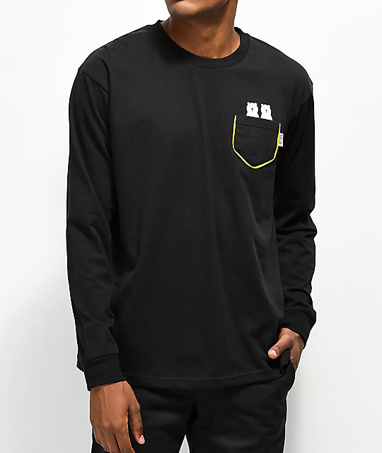 Teddy Fresh Two Teds Black Long Sleeve T-Shirt