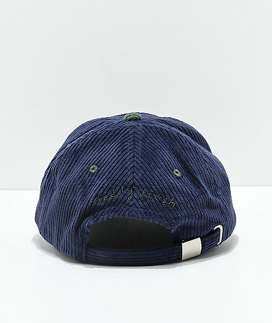 ... Teddy Fresh Two Teds Blue   Green Corduroy Strapback Hat f09b3372ec11