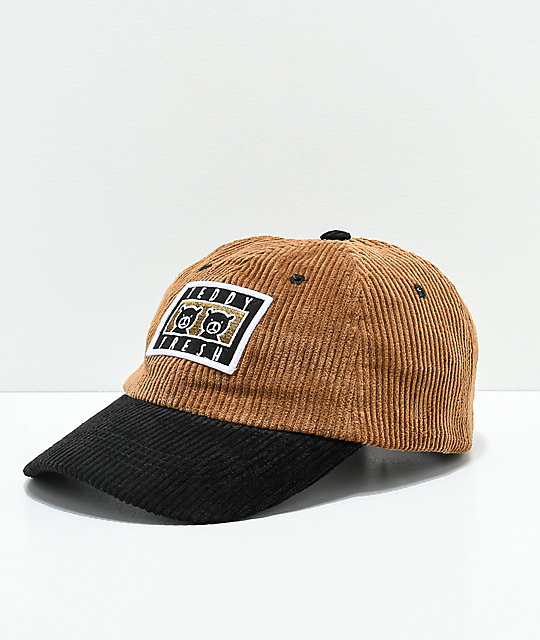 Teddy Fresh Two Teds Brown   Black Corduroy Strapback Hat  594c9ce9cb7c