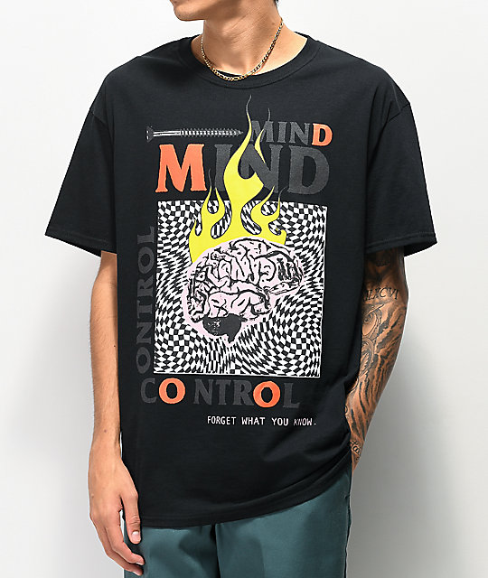 Teen Hearts Mind Control Black T-Shirt