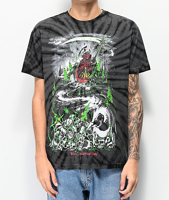 Teenage Go To Hell Black Tie Dye T-Shirt